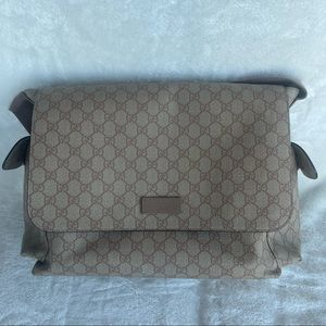 Gucci Supreme Canvas Diaper Bag with Changing Pad